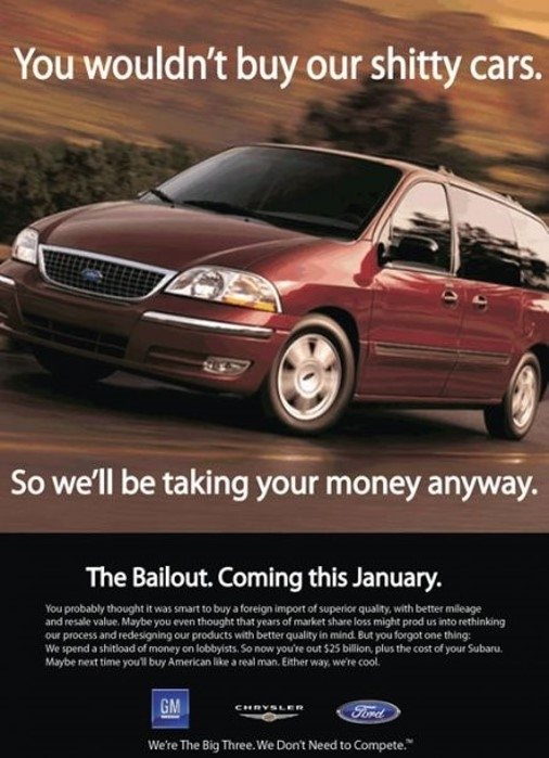 Bailout Advert